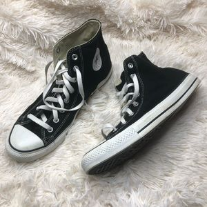 Converse all star black high top sneakers